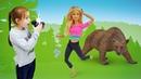 Барби идёт в лес. Детское видео куклы Барби и их приключения.