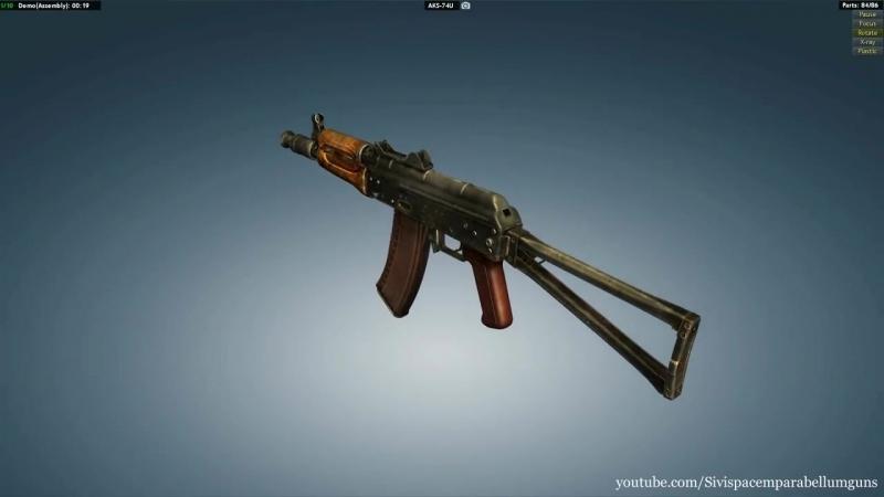 AKS-74U full disassembly assembly (720p)