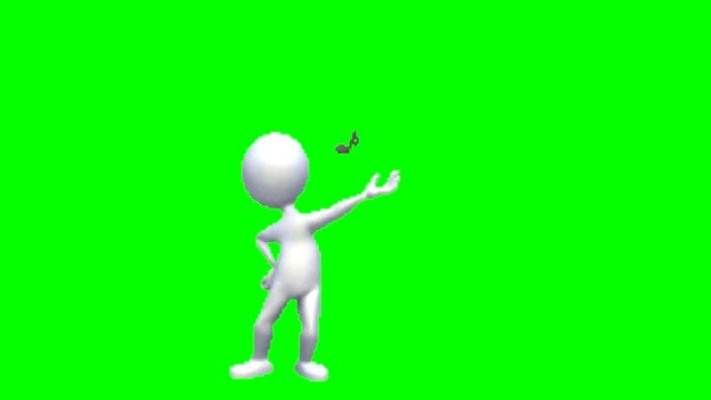 FREE GREEN SCREEN ☯ CHROMA KEY ☯ ФУТАЖ ХРОМАКЕЙ 3D ЧЕЛОВЕЧКИ ➥ yda4aTV