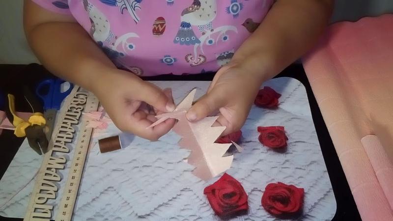 МАСТЕР-КЛАСС. Делаем кленовый листок из гофробумаги для конфетных букетов