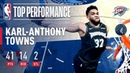 Karl-Anthony Towns Drops 41 POINTS On Oklahoma City | March 5, 2019 NBANews NBA Timberwolves KAT