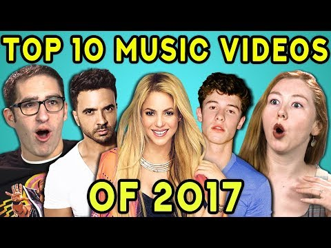 ADULTS REACT TO TOP 10 MUSIC VIDEOS OF 2017 VEVO