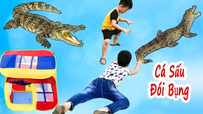 Trò Chơi Cá Sấu Tìm Đồ Ăn ❤ Bé Vui Cắm Trại Phần 2 ❤ Min Min TV Minh Khoa