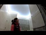 Очень красивый световой потолок в ванной, занял свое место! ?.Это наш любимый вариант потолка/светильника для подобных помещен