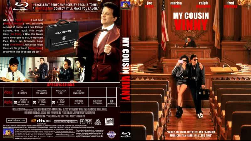 Мой кузен Винни My Cousin Vinny (1992) BDRip 720р.