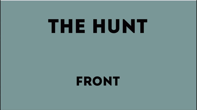 The Hunt - Front