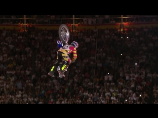 Historic bike flip in fmx competition