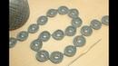 Ленточное кружево АЖУРНЫЕ КОЛЕЧКИ безотрывное вязание Crochet ribbon lace