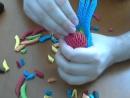3д оригами попугай ч2 3D Origami Parrot macaw tutorial instructions part 2