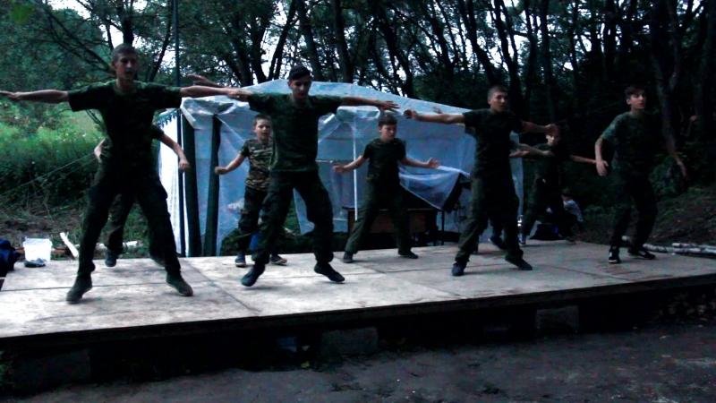 Танец Русская рать лагерь воскресной школы Разведка 2018