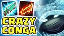 THE BEST SECRET OP TEAM FRIENDS CRAZY CONGA LINE NEW CRAZY BUILD RAMMUS JUNGLE - Nightblue3