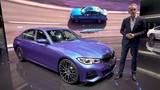 The all-new BMW 3 Series Sedan (G20) at Paris Motor Show.  Walkaround with BMW Design Chief.