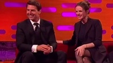 Rebecca Ferguson and Tom Cruise