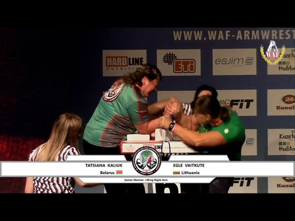 World Arm Wrestling Championship 2018 Senior Women 80 kg Right hand Qualification