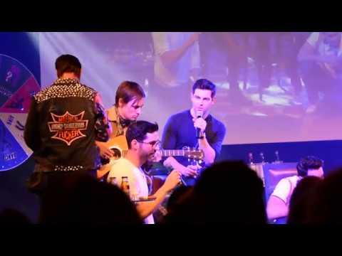 David, Tom, Reeve, Brett, Torrance and Manu singing Hallelujah at JIBLAND