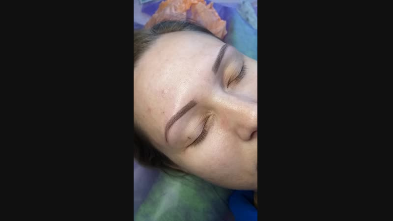 🌸Перманентный макияж.Техника Напыление.Пудровые бровки🌸 ✔Брови после первичной процедуры ✔Через месяц на коррекции добавили цв