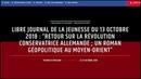 """LIBRE JOURNAL DE LA JEUNESSE DU 13 OCTOBRE 2018 : """"RETOUR SUR LA RÉVOLUTION CONSERVATRICE ALLEMANDE"""