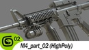 M4 carbine part 02 Highpoly