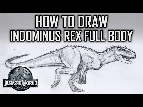 How To Draw Indominus Rex Full Body - Jurassic World - Tutorial Tuesday pt1