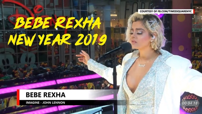 Bebe Rexha - Imagine (John Lennon) - Times Square NYC, USA - New Year 2019 Ball Drop Countdown