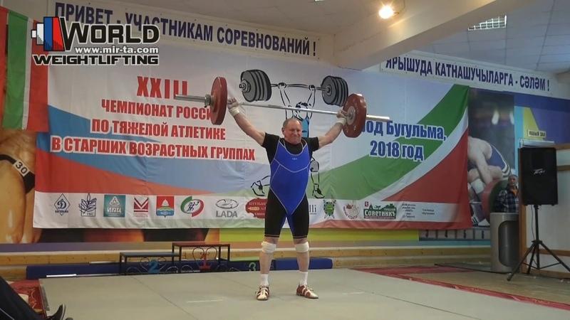 ЩЕКОТОВСКИЙSHCHEKOTOVSKIY (94,М-70) 80-85-88х100-108х-108. Russian Championships Masters 2018