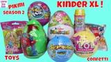 Pikmi 2 Kinder Easter Jumbo XL Surprise Egg LOL Confetti POP Toys Unboxing Kids Fun POPS
