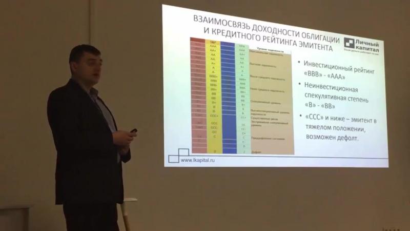 Взаимосвязь доходности облигации и кредитного рейтинга. Виталий Рунцо