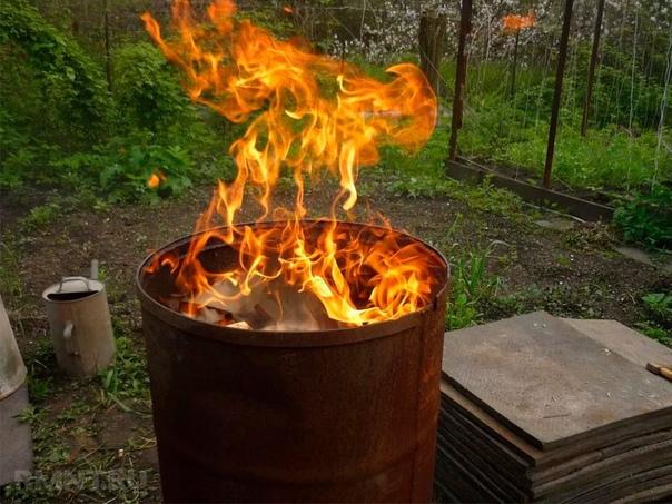 Легально сжигаем мусор на своём дачном участке - 2 способа.