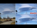 UFO Cloaked In Clouds Moving Low Over Oregon, Feb 8, 2018