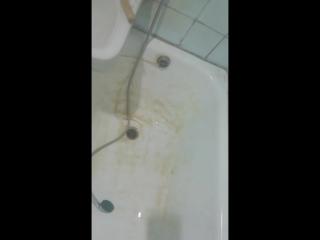 Демонтаж сифона ( слив - перелев)