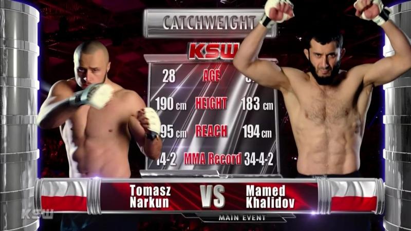 Mamed Khalidov vs. Tomasz Narkun [03.03.2018 KSW 42]