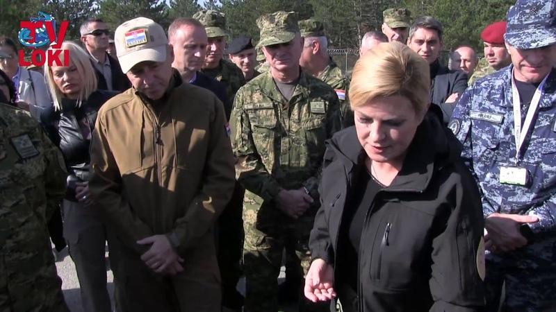 Vojna vježba Velebit 18-Združena snaga: Predsjednica i ministar u obilasku