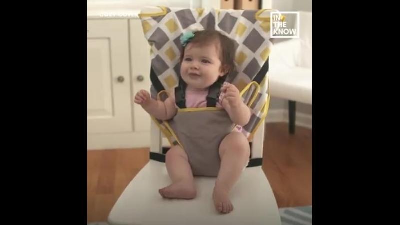 Детский стульчик из любого обычного стула - удобный держатель для малыша