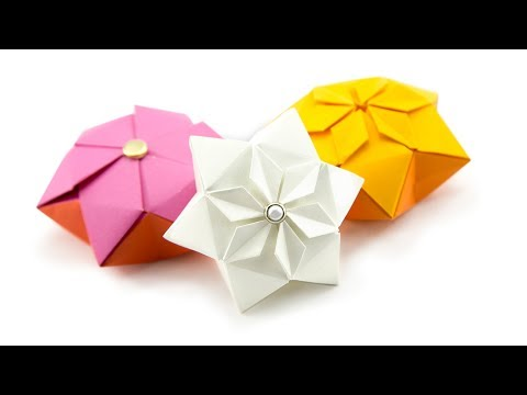 Origami Hexagon Puffy Star Tutorial ♥︎ Paper Kawaii
