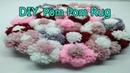 DIY Beautiful door mat and Floor mat with woolen flowers easy doormat diy pom pom blanket