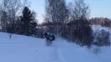 Снегоход Yamaha nytro mtx 162, покатушки зима 2015, Таргаи