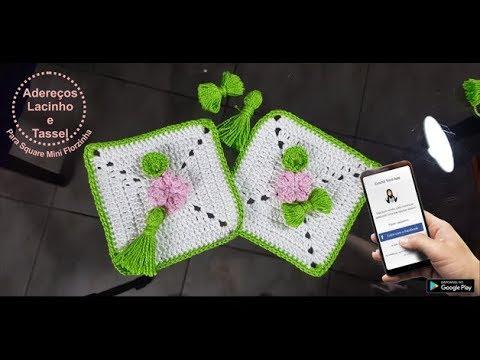 Projeto Almofada Delicatéssen: Adereços Lacinho e Tassel - Destras - Prof. Ivy (Crochê Tricô)
