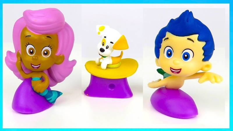Learn colors with Bubble Guppies toys PJ Masks Wrong heads magic for babies