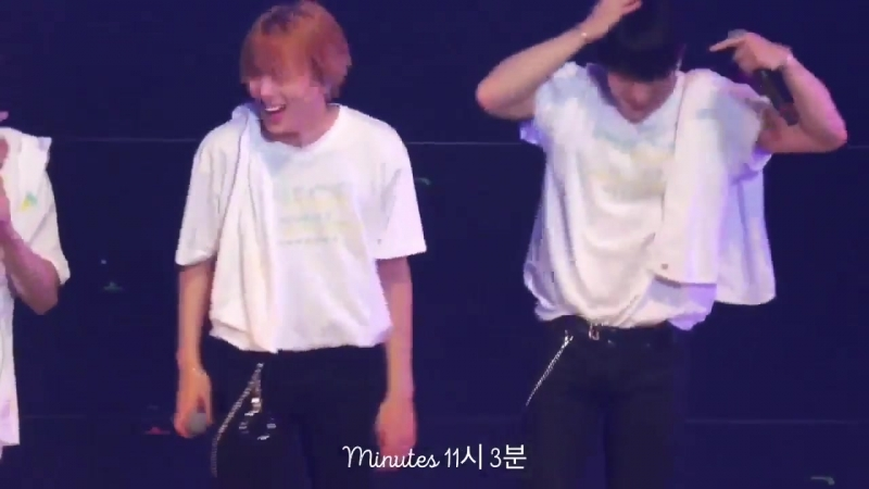 VK 180425 MONSTA X Gfyl Minhyuk focus @ Japan 1st Live Tour 2018 in Fukuoka