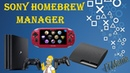 Sony Homebrew Manager для PS Vita/ PS TV/ PS3/ PS4
