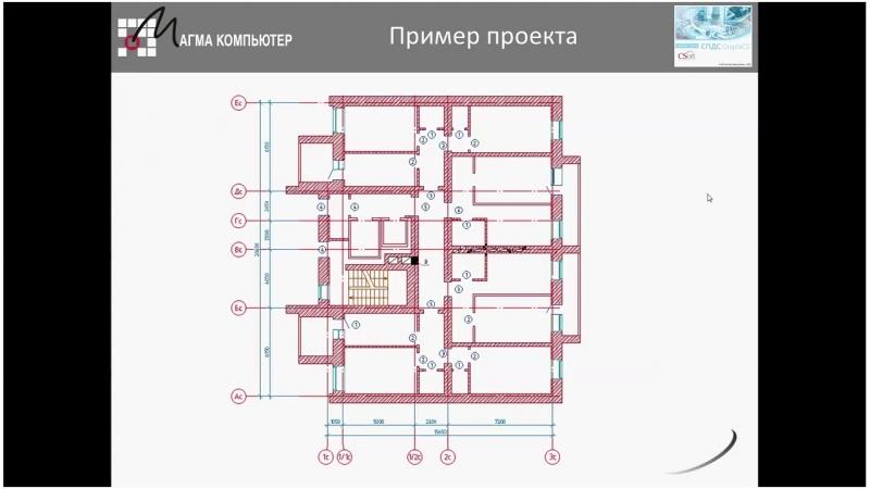 Вебинар «СПДС GrapchiCS. Проектирование разделов АС, АР»