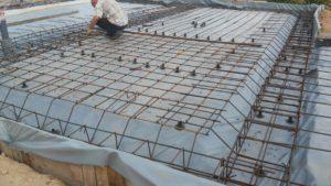 Фундамент плита и ребристая плита.