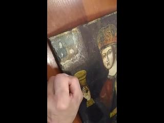 Мастер-класс. Восстановление красочного слоя у старинной  иконы