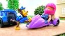 Giochi per bambini. Paw Patrol e una torta. Barbie episodi