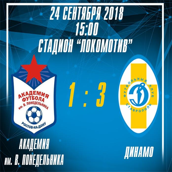 Ставропольские динамовцы в Батайске отпраздновали первую победу