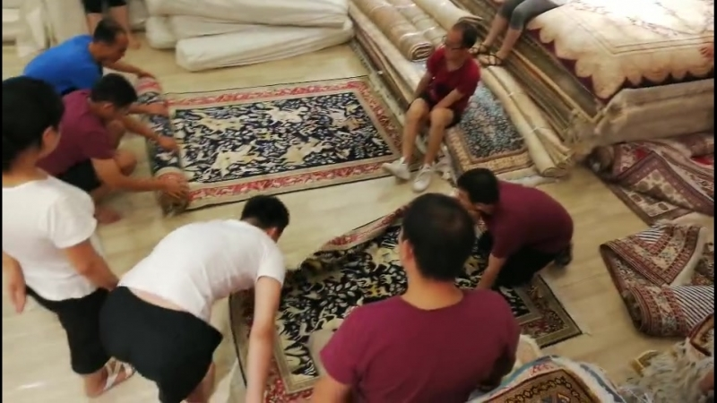 Oriental traditional rug Persian handmade silk carpet modern wool carpe