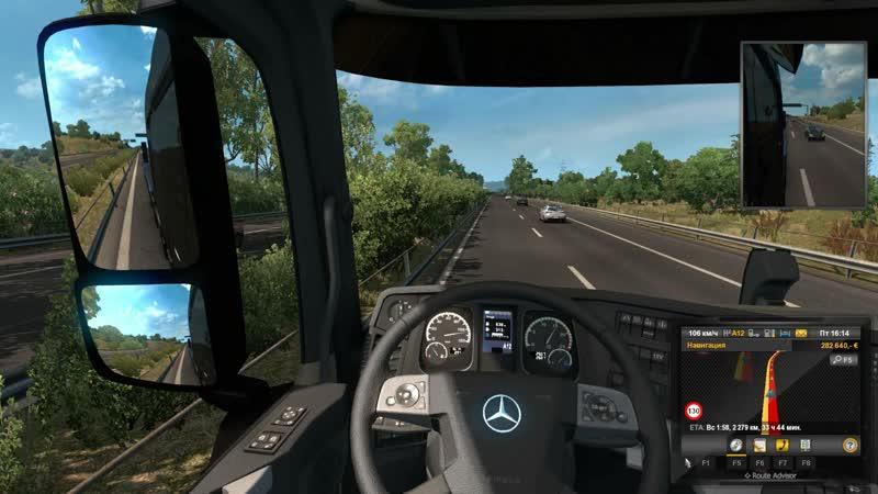 Euro Truck Simulator 2 Очередная поездка.