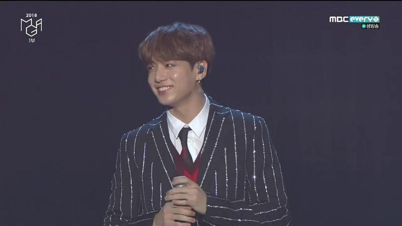 181106 BTS X Charlie Puth We Don't Talk Anymore FAKE LOVE @ 2018 MBCPLUS X genie Music Awards