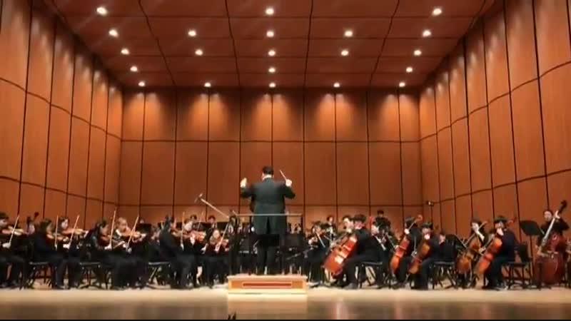 국제 청소년 심포니 오케스트라 정기연주회에서 앵콜 공연으로 DNA를 연주해주셨네요 오케스트라의 연주로 DNA가 더욱 웅장해지고 풍성해졌어요 연주해주신