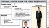 Emirates cabin crew photo requirements for males Emirates cabin crew online assessment tips
